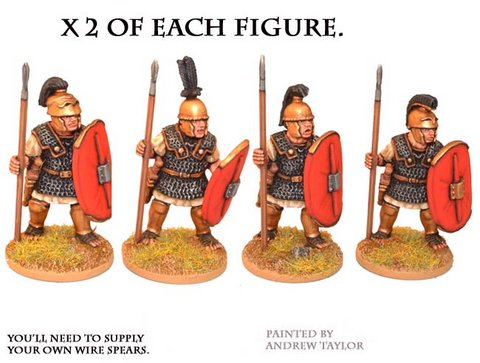 Republican Roman Triarii in Mail with Spear