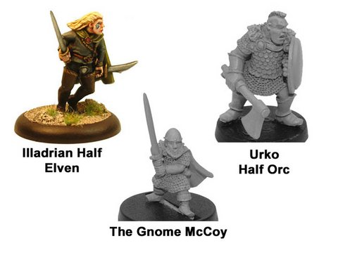 Crusader Games got inexpensive iconic fantasy miniatures: Ccf002