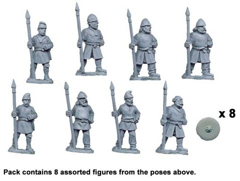 Saxon Warriors with Spears Upright