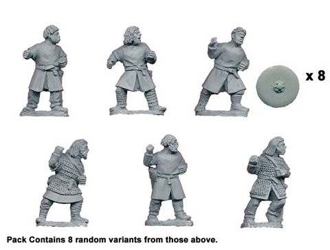 Bareheaded Saxon Warriors with Spears