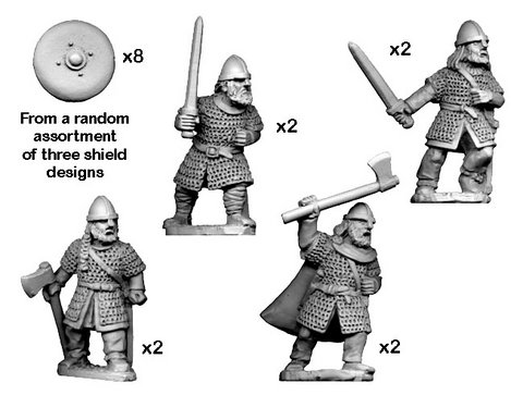 Hirdmen with Swords/Axes