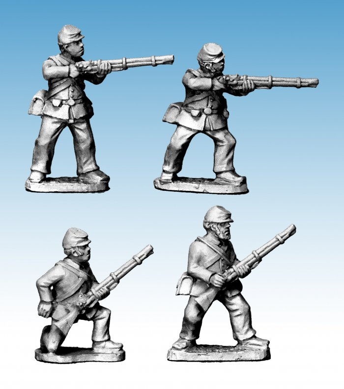 ACW Infantry in Jacket and Kepi Skirmishing