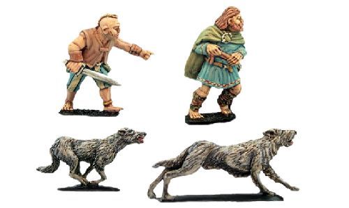 Packmasters & Hounds (2 men, 8 hounds)