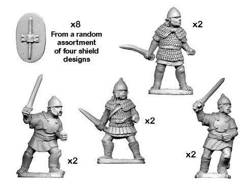 Celtiberian warriors with Swords