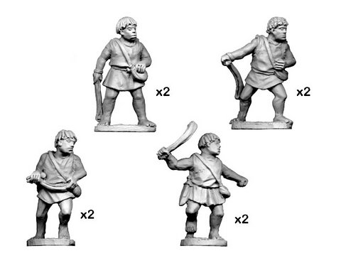Numidian Warriors with Slings