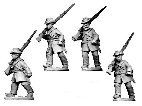 ACW Infantry in Frock Coat and Hardee Hat