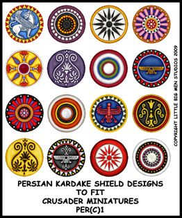 Persian Kardakes Shield Transfers