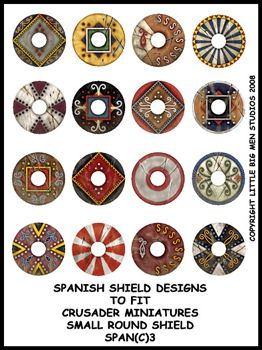 Ancient Spanish Shield Transfers III