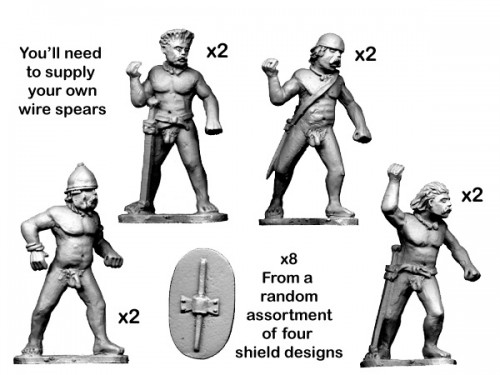 Naked Warriors with Spears