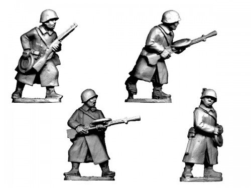 Russian LMG Teams in Greatcoats