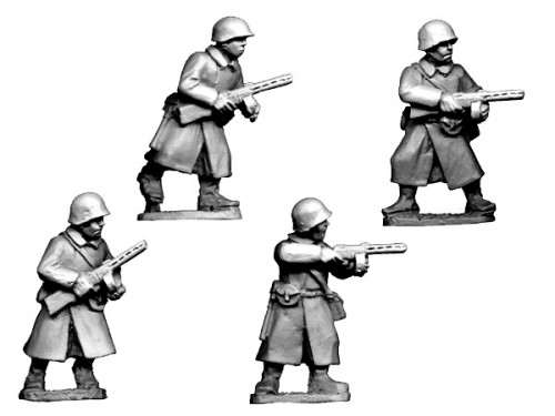 Russian SMG Infantry in Greatcoats