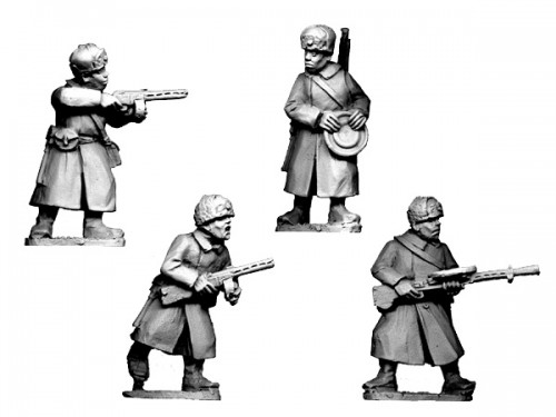 Russian Infantry SMGs & LMGs in  Fur Hats