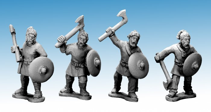 Saxon Warriors with Axes