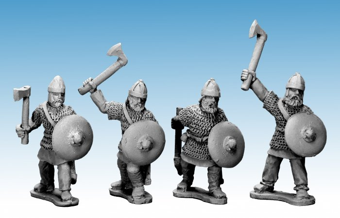 Saxon Noble Warriors with Axes.