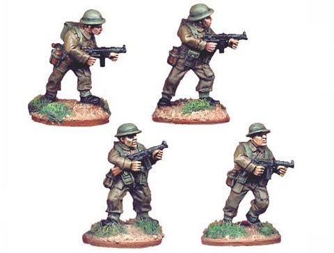 British Infantry with Thompson SMGs