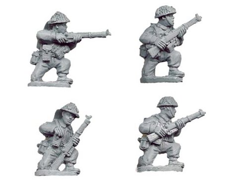 Late British Riflemen kneeling