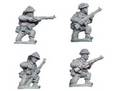 Photo of Late British Riflemen kneeling (4 figs) (WWB106)