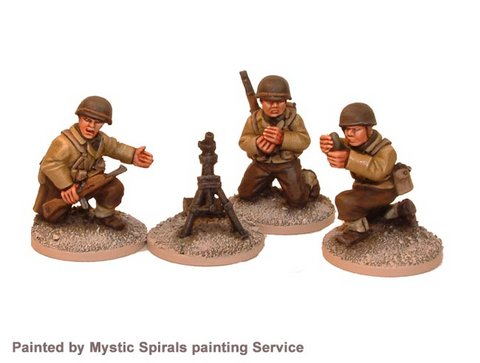 US Infantry 60mm Mortar (1 mortar, 3 crew)