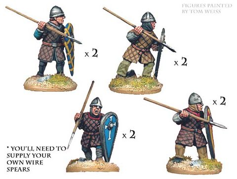 Norman Spearmen in Quilted Armour