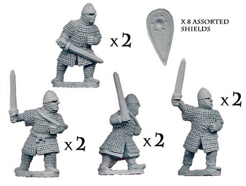 Dismounted Norman Knights with Swords