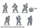 Photo of Bareheaded Saxon Warriors with Spears (DAS011)
