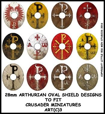 Sub Roman Shield Transfers (Oval 3)