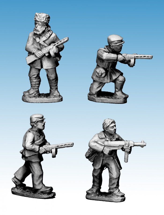 Partisans with submachine guns